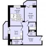 2-комнатные квартиры
